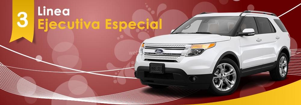 Alquiler de vehiculos de linea ejecutiva especial