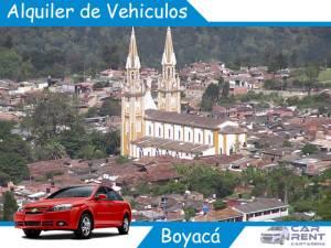 Alquiler de vehiculos en Boyacá