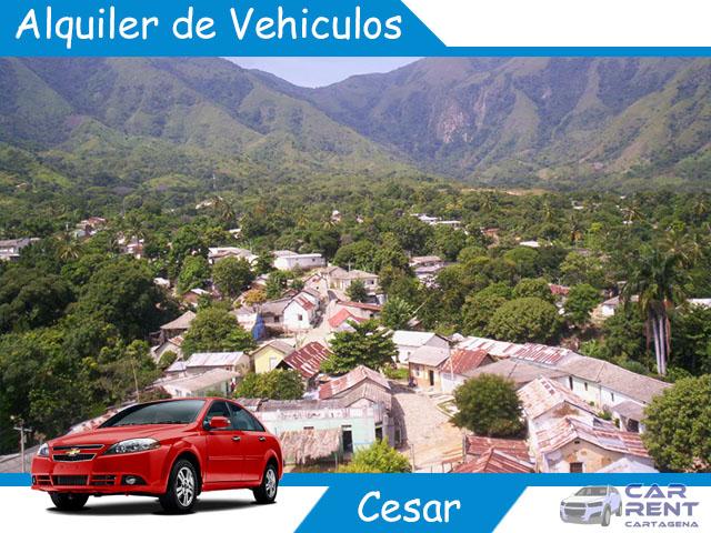 Alquiler de vehiculos en Cesar