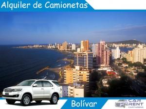 Alquiler de camionetas en Bolivar
