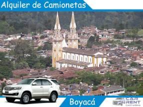 Alquiler de camionetas en Boyacá