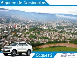 Alquiler de camionetas en Caquetá