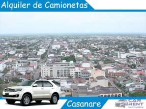 Alquiler de camionetas en Casanare