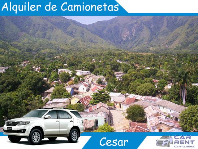 Alquiler de camionetas en el Cesar