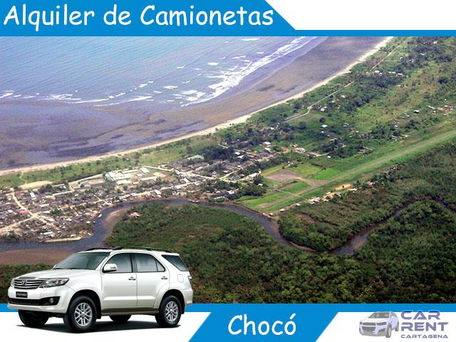 Alquiler de camionetas en Chocó