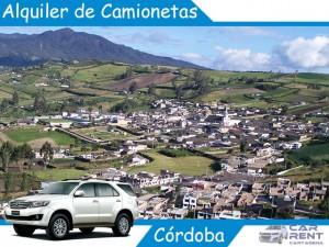 Alquiler de camionetas en Córdoba