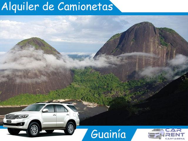 Alquiler de camionetas en Guainía