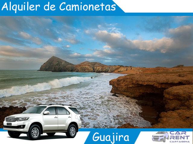 Alquiler de camionetas en La Guajira