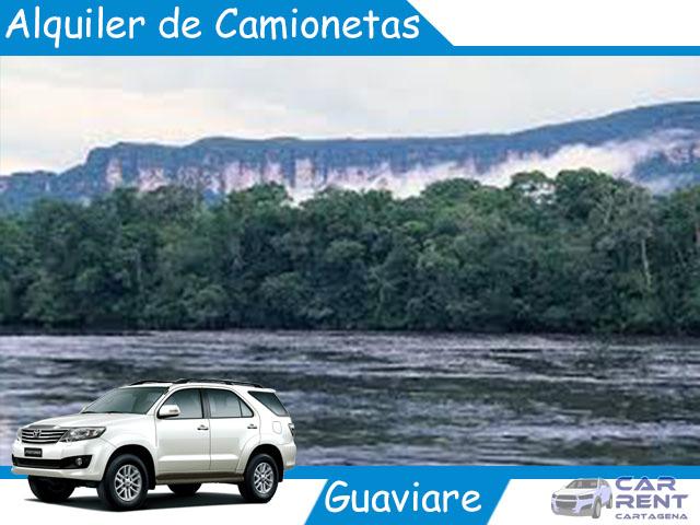Alquiler de camionetas en Guaviare