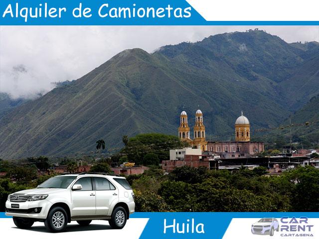 Alquiler de camionetas en Huila