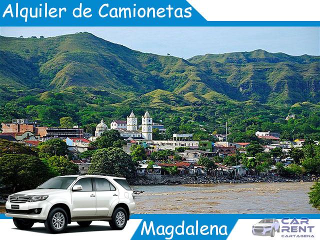 Alquiler de camionetas en Magdalena
