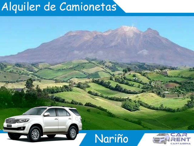 Alquiler de camionetas en Nariño
