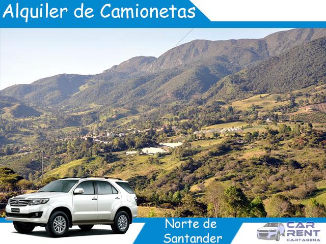 Alquiler de camionetas en Norte de Santander