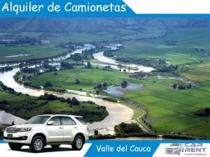 Alquiler de camionetas en Valle del Cauca