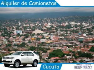 Alquiler de camionetas en Cúcuta