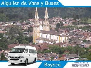 Alquiler de Van Minivan y Buses en Boyacá