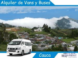 Alquiler de Van Minivan y Buses en Cauca