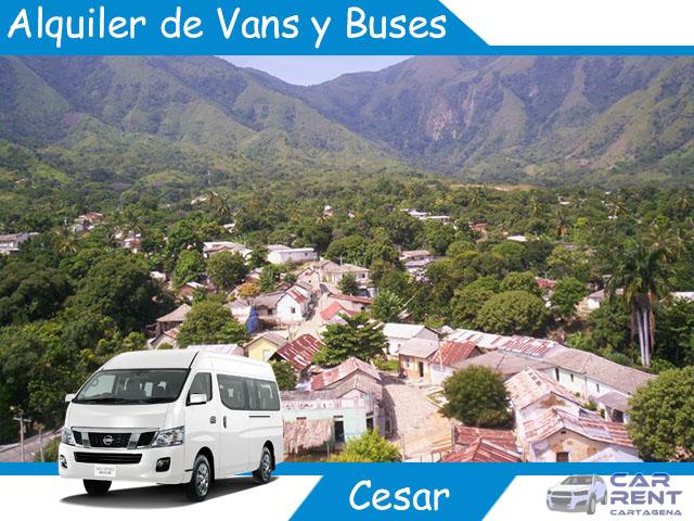 Alquiler de Van Minivan y Buses en Cesar