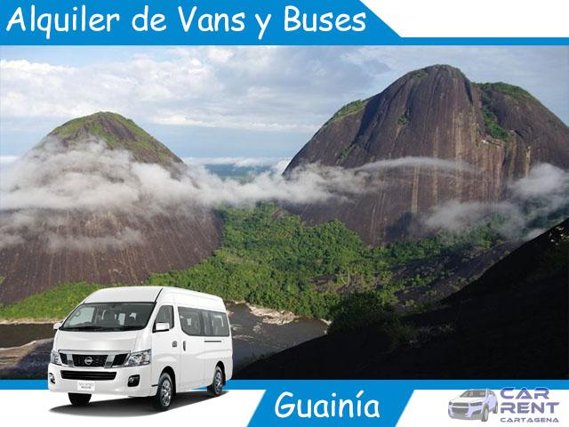Alquiler de Van Minivan y Buses en Guainía
