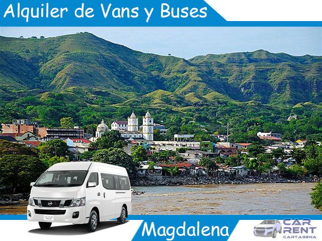 Alquiler de Van Minivan y Buses en Magdalena