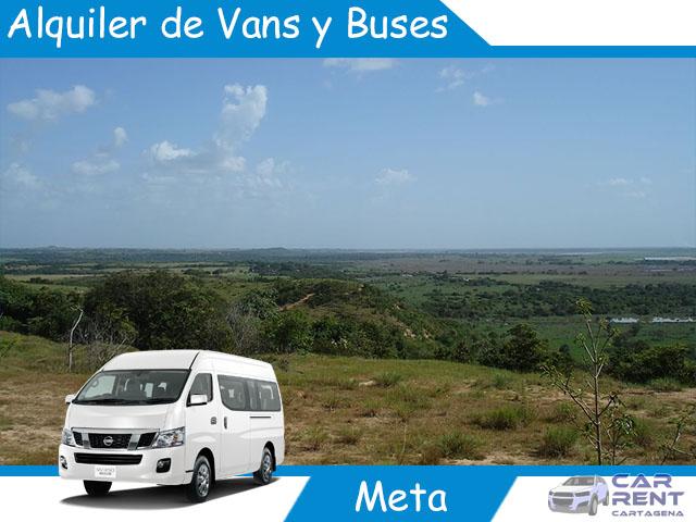 Alquiler de Van Minivan y Buses en el Meta