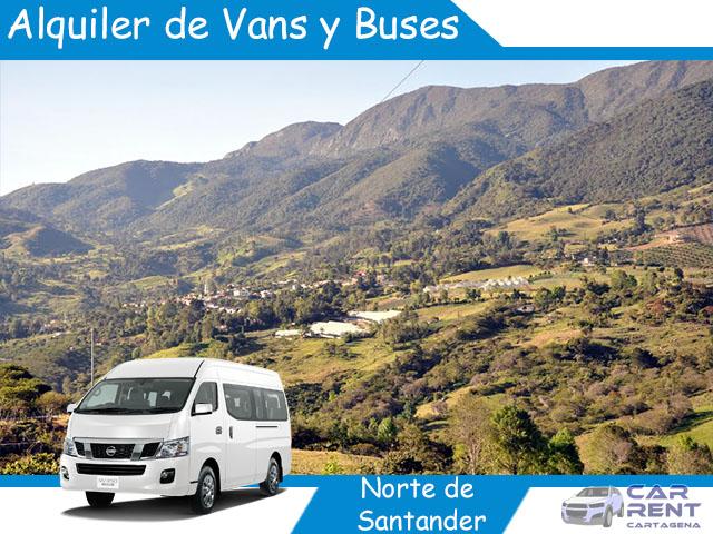 Alquiler de Van Minivan y Buses en Norte de Santander