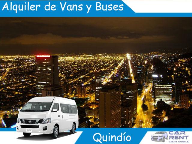 Alquiler de Van Minivan y Buses en Quindio